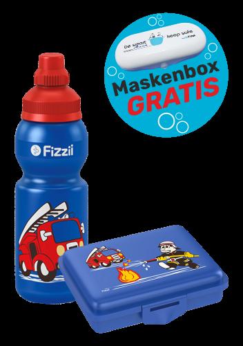Fizzii Set Feuerwehr, Blau mit Maskenbox