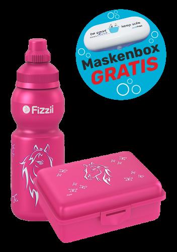 Fizzii Set Mini Pferd, Pink mit Maskenbox