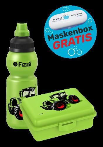 Fizzii Set Mini Trecker, Kiwi mit Maskenbox