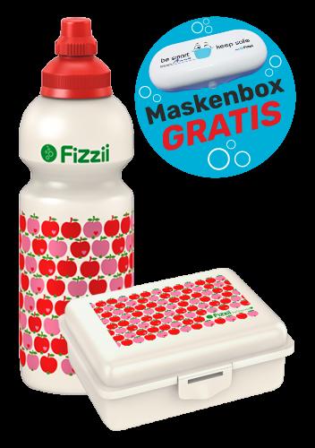 Fizzii Set Äpfel byGraziela, Rot mit Maskenbox