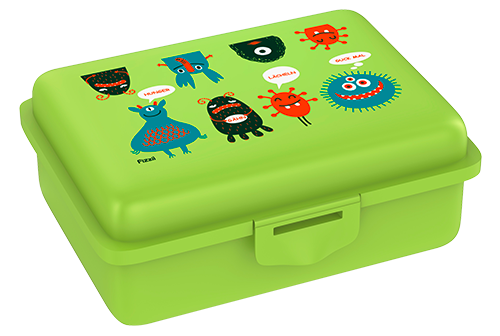 Fizzii Monster, Lunchbox Kiwi mit Trennfach