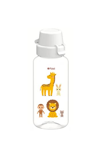 Bambini Wild Animals 400 ml Tritan-Kindertrinkflasche mit weissem Klappverschluss