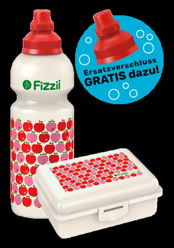 Fizzii Set Äpfel byGraziela, Rot
