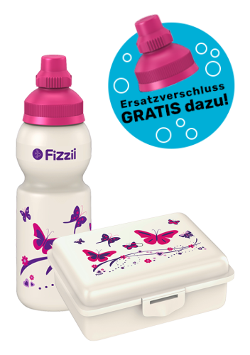 Fizzii Set Mini Schmetterling, Perlweiß