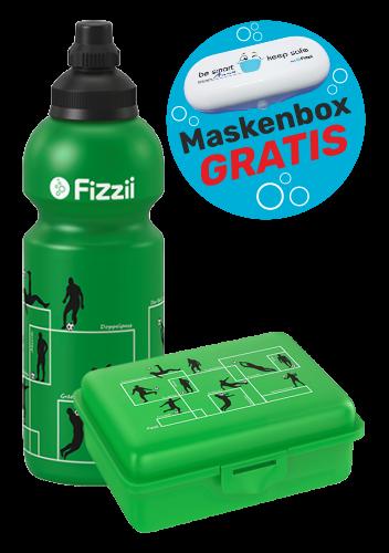 Fizzii Set Spielzüge Fußball, Grün mit Maskenbox