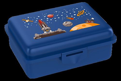 Fizzii Weltraum, Lunchbox Blau mit Trennfach