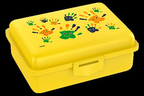 Fizzii Hände, Lunchbox Gelb mit Trennfach
