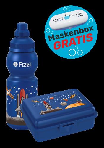 Fizzii Set Mini Weltraum, Blau mit Maskenbox