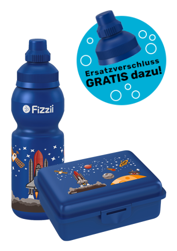 Fizzii Set Mini Weltraum, Blau