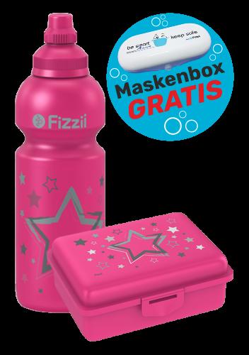 Fizzii Set Sterne, Pink mit Maskenbox