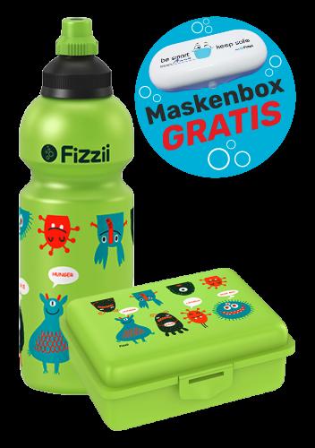 Fizzii Set Monster, Kiwi mit Maskenbox