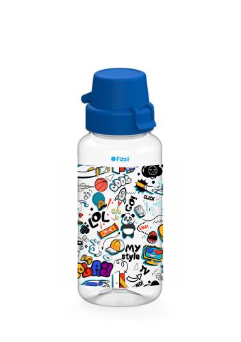 Bambini Comic 400 ml Tritan-Kindertrinkflasche mit blauem Klappverschluss