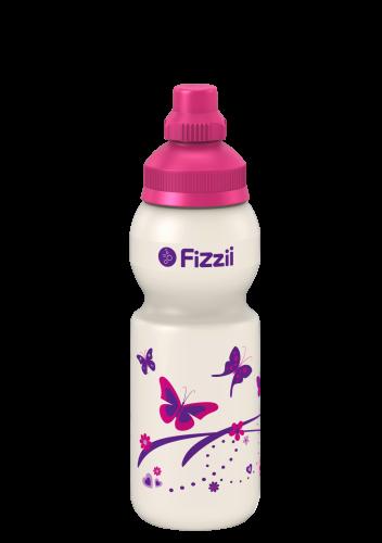Fizzii Mini Schmetterling, 330 ml Kindertrinkflasche Pink, Verschluss: Pink