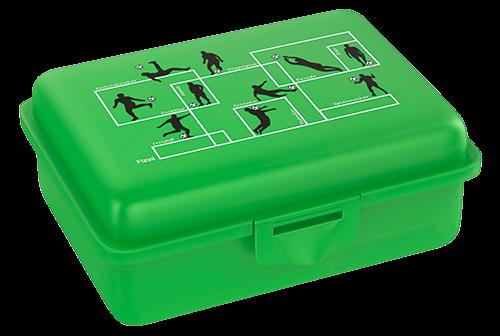 Fizzii Spielzüge Fußball, Lunchbox Grün mit Trennfach