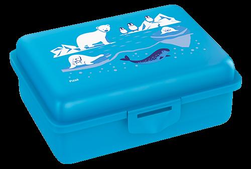 Fizzii Eiswelt, Lunchbox Cyan mit Trennfach