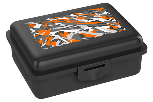 Fizzii Graffiti, Lunchbox Schwarz mit Trennfach