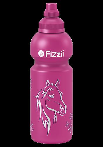 Fizzii Pferd, 600 ml Kindertrinkflasche Pink, Verschluss: Pink