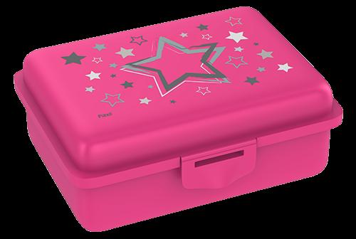 Fizzii Sterne, Lunchbox Pink mit Trennfach