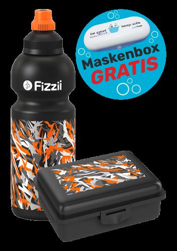 Fizzii Set Graffiti, Schwarz mit Maskenbox