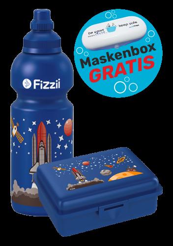 Fizzii Set Weltraum, Blau mit Maskenbox