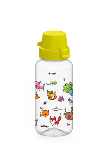 Bambini Fox & Co 400 ml Tritan-Kindertrinkflasche mit gelbem Klappverschluss