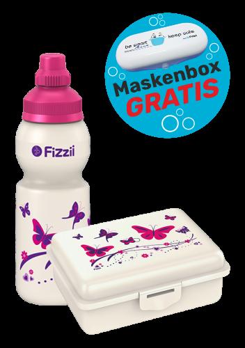 Fizzii Set Mini Schmetterling, Perlweiß mit Maskenbox