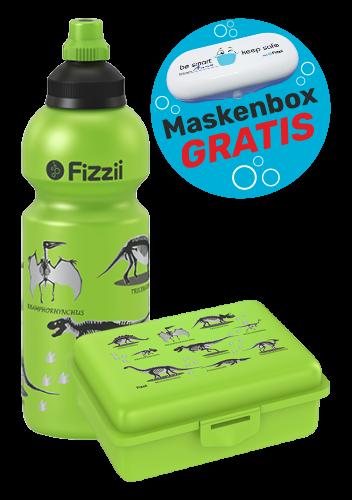 Fizzii Set Dino, Kiwi mit Maskenbox