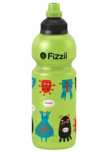 Fizzii Kindertrinkflasche 600 ml Monster