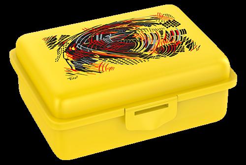 Fizzii Energy, Lunchbox Gelb mit Trennfach