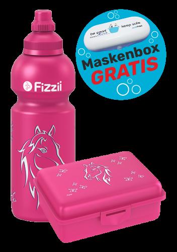 Fizzii Set Pferd, Pink mit Maskenbox