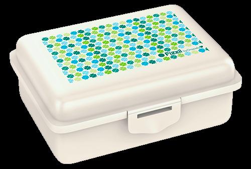 Fizzii byGraziela Kleeblätter, Lunchbox Perlweiß mit Trennfach