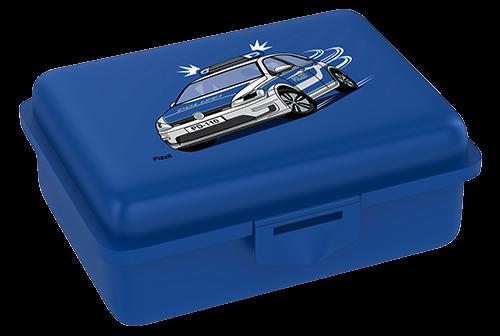Fizzii Polizei, Lunchbox Blau mit Trennfach