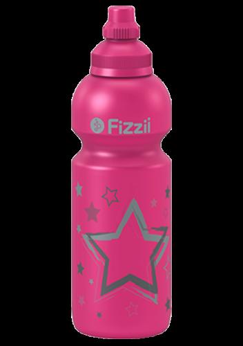 Fizzii Sterne, 600 ml Kindertrinkflasche Pink, Verschluss: Pink